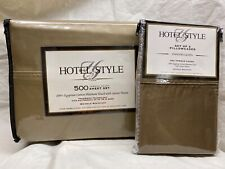 Hotel Style Full Sheet Set 500TC Egyptian Cotton Deep Pocket Extra Pillow Cases