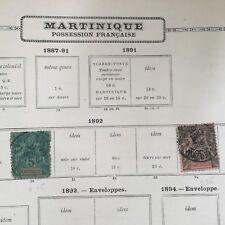 2 Timbres MARTINIQUE 1892 Colonie Française