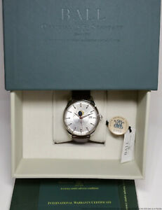 New Ball Trainmaster Moonphase NM3082D Mens Watch $2299 Retail Box Papers Tags