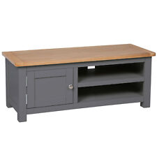 Farrows Grey Painted Plasma TV Unit / Oak Cabinet / Solid Wood TV Stand / New