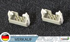 2stk 6 Pin ISP Socket mit Schnapp-Klammer 2,54mm für Arduino USBASP Raspberry Pi