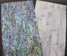 Abalone (Paua,See-Opal) + Perlmutt weiß, jeweils 240 x 140 x 0,2 mm