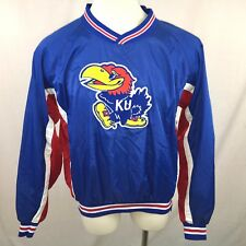 NWOT KANSAS JAYHAWKS XL Windbreaker Russell Athletics Pullover Vintage Blue Red