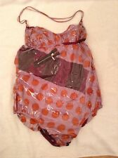 BNWTT 100% Auth By MARNI, unique Dot Silk & Plastic Swimsuit. 6/8 RRP £390
