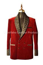 Men Maroon Smoking Jackets Elegant Luxury Stylish Designer Party Wear Blazer