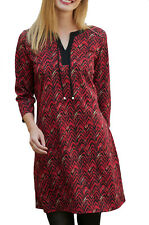 UK Size 8 - 34 Ladies Petrol Wine Grey Long StretchTunic Top or Dress EU 34-64 22 Red