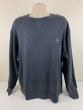 VTG 80's Stussy Blue Grey Sweater Men's Size XL Sweatshirt Streetwear 90's EUC