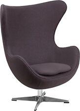 Flash Furniture Gray Wool Fabric Egg Chair with Tilt-Lock Mechanism ZB-18-GG NEW