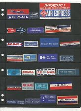 VINTAGE AIRMAIL LABEL COLLECTION