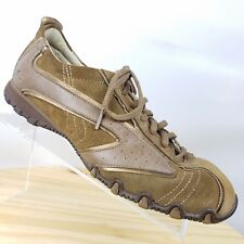 Skechers Womens Brown Leather Lace Up Size 8.5 M Casual Shoe Gold Trim