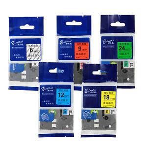 Schriftband-Kassette für Brother P-Touch Alle Farben 6mm ,9mm ,12mm ,18mm 24mm