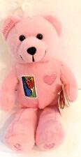 Stamp Bear Plush USPS Licensed 2001 Timeless Toys  Pink Breast Cancer Aware bear