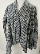 Tommy Hilfiger Women Lounge Cardigan Sweater Wrap Open Front Medium White Black