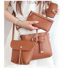 4 in 1 Classic Leather Sling Bag (Dark brown)