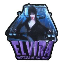 """Elvira: Mistress of the Dark"" Macabre Mobile Horror Icon Iron On Applique Patch"