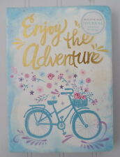 Molly & Rex Enjoy the Adventure Bicycle Floral Basket Punch Studio Journal 15031