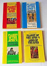 Planet of The Apes TV Series Book Lot VINTAGE Books 1-4 Paperbacks RARE HTF