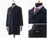 90s Vintage Mens HUGO BOSS Coat Jacket Black Size M