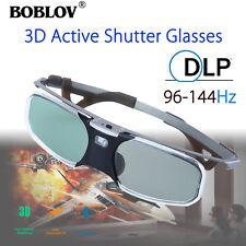 3D DLP-Link 96-144Hz Active Shutter Glasses Rechargeable 8M USB For Acer Sharp