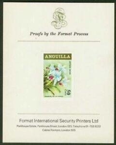 Anguilla 1969 Cattleya Orchid proof/PRESENTATION CARD