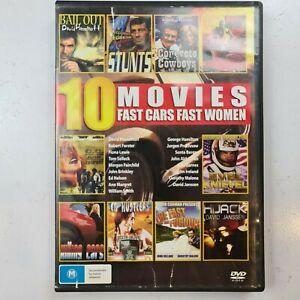 10 Movies : Fast Cars Fast Women (DVD, 4-Disc Set) Region 4 Free Tracked Post