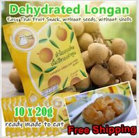 10* 20g Dried Longan Thai Delicious Snack Dehydrated Longan Dragon Eye Fruit