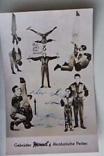 27167 Foto AK Autogramm Gebrüder Monnel Akrobaten 1961 Artistik Akrobatik