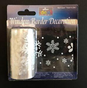 2m Long Snowflake Snow Window Border Cling Sticker Vintage Christmas Decorations