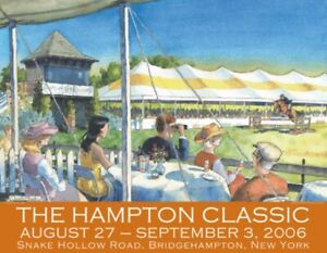 2006 Original Hampton Classic Horse Show Poster Daniel Black