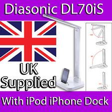 DIASONIC DL-70iS DAYLIGHT LED DESK BEDSIDE LAMP iPOD iPHONE SPEAKER DOCK CHARGE