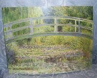 Stunning The Water-Lily Pond Reproduction Print By Masterpiece