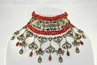 Heidi Daus Seductive Fantasy Choker Dangle Necklace CARNELIAN SWAROVSKI RARE PC