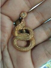 Naga Pendant Charm Lucky Rich Thai Amulet Love Wealth Talisman Copper Real