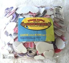 STRIPED HEARTS Foam Shapes Kids Crafts Scrapbooking  Classroom Daycare