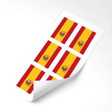 Spain Flag Stickers x6 25mm Car Motorbike Helmet Vinyl Spanish Flag