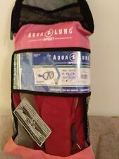 Aqua Lung Sport [Kids Series]  mask, snorkel and fins, new never used, pink