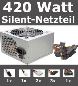 PC Netzteil 400W Power 420 Watt ATX Computer Strom SATA sehr leise Silent Neu