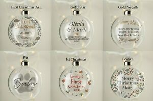 Personalised Glass Bauble Choose Design