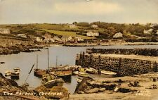 Vintage 1957 Cornwall Postcard, The Harbour at Coverack, fishing, boats 22W