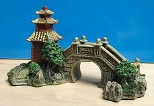 Japanese Garden Bridge Ornament Aquarium Fish Tank Bowl New