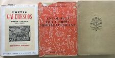Poesia Hispanoamericana Panero 2 vols. Poetas Gauchescos Hidalgo Ascasubi