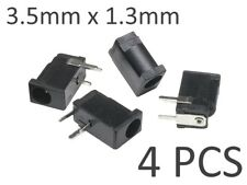 4x 3.5mm x 1.3mm PCB DC Power Supply Socket Connector / Barrel Jack