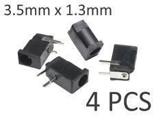 4x 3.5mm x 1.3mm PCB DC Power Supply Socket Connector / Barrel Jack