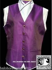 **Adult Show Riding Vest with matching pre-tied stock** Size Medium
