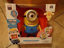 THINKWAY TOYS--DESPICABLE ME 2--TALKING / LAUGHING MINION STUART FIGURE (NEW)