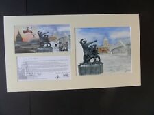 GB 2003 blitz Fire Fighters Bletchley Park FDC + original artwork signed Bailey