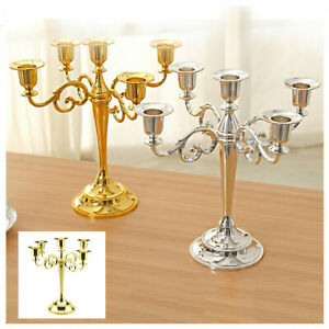 Table Candlesticks Candelabra Home Party Wedding Dining 5-Arm Candle Holder New