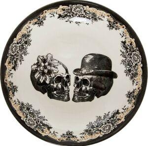 ROYAL STAFFORD Skulls Large Pasta Bowl Halloween Gothic Mr Mrs Wedding Gift
