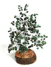 REIKI ENERGY CHARGED GREEN AVENTURINE GEMSTONES CRYSTAL TREE  GIFT