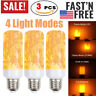 3 x LED Flame Effect Light Bulb Simulated Nature Fire Flicker Lamp E26/E27 Base